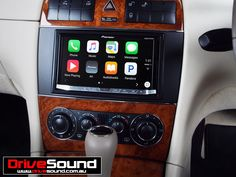 Mercedes Benz CLK320 with Apple CarPlay installed by DriveSound.