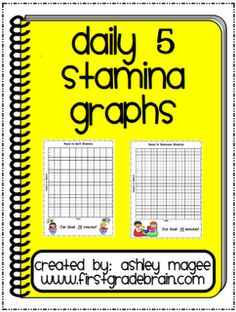 Magee ~ Use these Daily 5 Stamina charts to document your class's progress in building stamina for Daily 5 time. Simply record the date in the bottom box (. Daily 5 Reading, Daily 5 Math, First Grade Reading, Teaching Reading, Guided Reading, Teaching Ideas, Learning, Daily 3, Kindergarten Reading