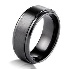 Titanium Wedding Band | Black Titanium Classic Wedding Band | Item#B75164TI by Wedding Bands. LOVE this one!