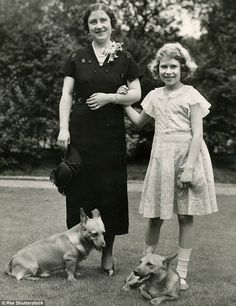 Beloved pet: Dookie, pictured with the Queen Mother and the Queen in 1936, was presented to the Royals in 1933 by Thelma Gray, who also supplied pedigree dogs to Luftwaffe commander Hermann Goering