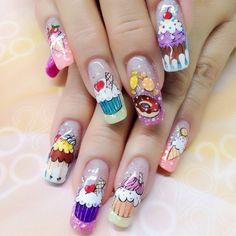 @pelikh_ nail idea:-) Nailart, Nail Games, Art Nails, Almond Nails, Oval Shape, Food Design, Cute Art, Hair And Nails, Manicure