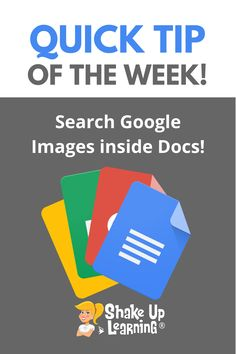 Search Google Images inside Google Docs, Slides, Sheets or Drawings Free Teaching Resources, Teacher Resources, Search For Google, Technology Integration, Mobile Learning, Google Docs, Google Classroom, Educational Technology, Google Images