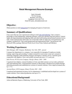 retail store manager resume example httpwwwresumecareerinfo - Retail Manager Resume Examples