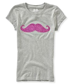 Kids' Mustache Graphic T - PS From Aeropostale