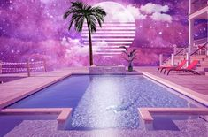 Find images and videos about pink, aesthetic and sky on We Heart It - the app to get lost in what you love. Water Aesthetic, Aesthetic Space, Retro Aesthetic, Episode Backgrounds, Wallpaper Backgrounds, Vaporwave Fashion, Vaporwave Art, Retro Art, Graphic Design Art