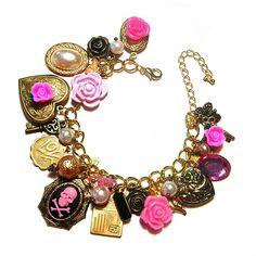 Fatal Attraction vintage inspired charm bracelet | Cherished Trinkets – Vintage Inspired Handmade Jewellery - vintage handmade jewellery