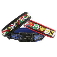 For the super dog in your life, or if he is bad to the bone, we love these personalizes leather collars!
