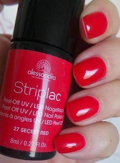 alessandro International Striplac Peel-Off UV / LED Nagellack – 27 Secret Red