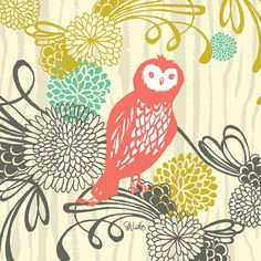 """Woodland Wonderland - Owl"" Kids Wall Decor by Sarah Watts for Oopsy Daisy, sizes 10x10 $49 and 18x18 $99"