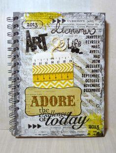 ** Challenge Résolution 2013 : Cahier d'inspiration/art journal **  http://scrap-plaisir.blogspot.fr