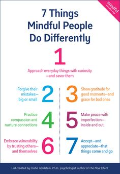 7 things mindful peo