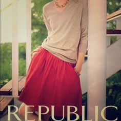 Banana Republic Red Skirt Beautiful in red color banana republic above the knee level skirt! You will look cute in it! Banana Republic Skirts