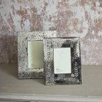 Antique mirror photo frame