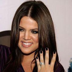 Khloe Kardashian Replica Cushion Cut CZ Wedding Ring Set. That I want!!