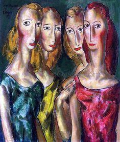 Four Sisters - Alfred Henry Maurer Oil Paintings - Maurer Paintings, Oil Paintings for Sale. Four Sisters, Oil Painting For Sale, Oil Painting Reproductions, Famous Artists, American Art, Canvas Art Prints, Sculpture Art, Modern Art, Contemporary Art