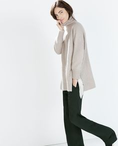 Image 3 of CASHMERE PONCHO SWEATER from Zara