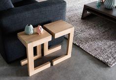 Design bijzettafel hout - Frames