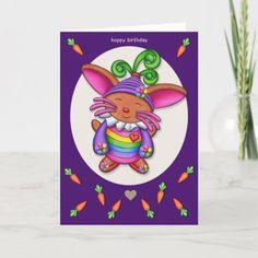 Nano Bun - Hoppy Birthday Card Diy Crafts For Bedroom, Diy Crafts For Teen Girls, Diy Craft Projects, Diy Crafts For Kids, Golf Crafts, Birthday Card Design, Birthday Ideas, Diy Gifts For Mom, Funny Birthday Cards