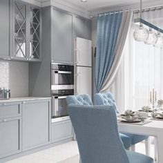 20 Inspiring Kitchen Cabinet Colors and Ideas That Will Blow You Away : gray blue teal turquoise kitchen ideas small kitchen apartment condo ideas shoproom ideas white and modern contemporary ikea Beige Kitchen Cabinets, Neutral Cabinets, Kitchen Cabinet Colors, Kitchen Counters, Diy Cabinets, Kitchen Islands, Kitchen Interior, Interior Design Living Room, Coastal Interior