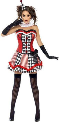sexy circus cutie clown costume