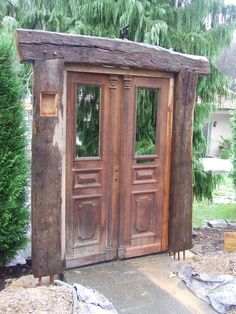 Garden design, half-timbered construction, recycled wood garden in the .- Garten gestaltung, fachwerk bau, recycled holz garten im landhausstil von chippie landhaus Recycled Garden, Recycled Wood, Garden Doors, Garden Gates, Herb Garden, Small Gardens, Outdoor Gardens, Gazebo, Pergola