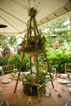 58 Inspiring And Natural Woodland Wedding Centerpieces | HappyWedd.com