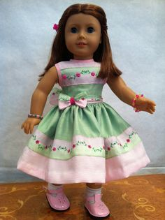 Prairie Home Doll Dress 2012 Couture Collection - fits 18 inch American Girl Style Doll - 1 My American Girl Doll, American Doll Clothes, Ag Doll Clothes, American Girl Accessories, Thing 1, Girl Dolls, Ag Dolls, Beautiful Dresses, Girl Fashion