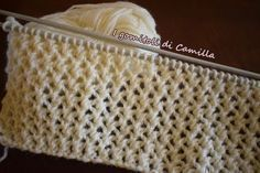 How to knit the net stitch: Camilla's tutorials – Crafts Ideas Baby Knitting Patterns, Knitting Designs, Stitch Patterns, Crochet Patterns, Camilla, Crochet Stitches Chart, Knitting Stitches, Knitting Videos, Easy Knitting