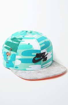 Nike SB Crackle Pro Snapback Hat - Mens Backpack - White/Silver - One