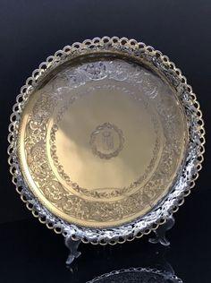 SALVA GRADINHA BRASONADA ( SÉC. XIX ). Diam.: 38 cm. www.766gallery.com