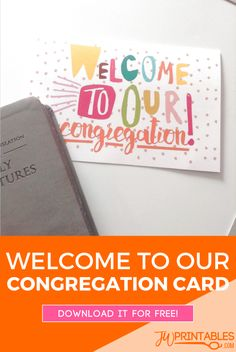 Welcome to Our Congregation Card | JW Printables