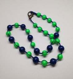 Necklace-Seattle Seahawks colors Seattle by JewelryByTerriB #jewelryonetsy #necklace