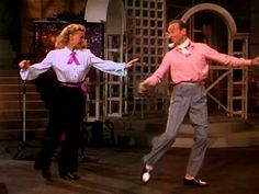"Ginger Rogers and Fred Astaire tapping to ""Bouncin' the Blues"" from The Barkleys of Broadway (1949) directed by Charles Walters."
