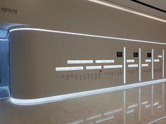 [E-line 라인조명] LG 사이언스파크 – EOK everything's ok ☎1544-6436 #조명 #라인조명 #라운드조명 #곡선조명 #펜던트조명 #이라인 #엘이디 #엘이디조명 #led #lg #사이언스파크 #마곡 Interior Design Exhibition, Exhibition Stand Design, Exhibition Display, Exhibition Space, Display Design, Booth Design, Store Design, Futuristic Interior, Futuristic Design