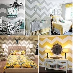 JiuBai™ Chevron Pattern Wall Sticker Wall Decal, Zig Zag wall decal - GBP £44.79