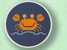 Cute Crabby Cross Stitch PDF Pattern by andwabisabi on Etsy, $3.00