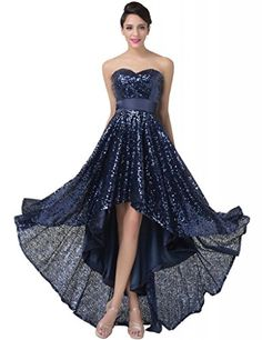 Grace Karin® Women Dress Strapless Sequins High-Low Prom Evening Dresses Dark Blue (2) Threeseasons http://www.amazon.com/dp/B00QBCHCRA/ref=cm_sw_r_pi_dp_8Qocvb1J9FNCF