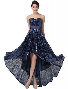 Grace Karin® Women Dress Strapless Sequins High-Low Prom Evening Dresses Dark Blue (2) GRACE KARIN http://www.amazon.com/dp/B00QBCHCRA/ref=cm_sw_r_pi_dp_v0P1vb0VY7EYJ