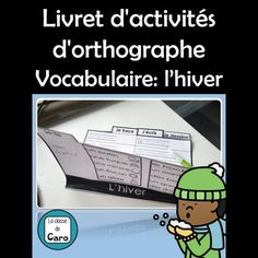 Livret d'activités - Vocabulaire: l'hiver Core French, French Classroom, Second Language, Expressions, Teaching French, Learn French, About Me Blog, Teacher, Activities