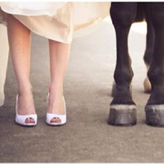I'll make sure I have a trip to the farrier before my wedding so I'm not so toed in.