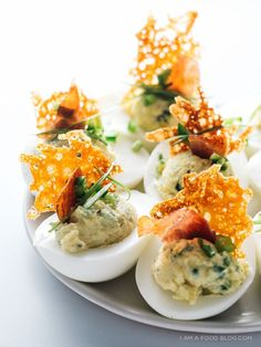 Jalapeno Popper Deviled Eggs by iamafoodblog #Appetizer #Deviled_Eggs #Jalapeno