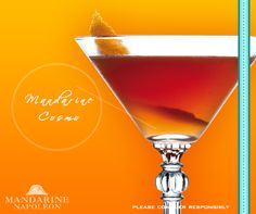 How do you like to drink your Mandarine Napoléon? Try making a cocktail with it such as the Mandarine Cosmo.