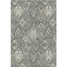 "Provence 7'10""x11'2"" Silver Blue Area Rug"