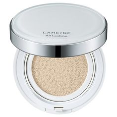 This cushion compact is the ultimate purveyor of complexion magic and pincher of pre-work minutes.  Infused with mineral water, SPF 50, and a spot-fading complex that helps prevent and reverse environmental damage, the formula imparts a veil of color that's buildable. Pat it into skin with the accompanying sponge for the ideal dose of dew. $34, target.com