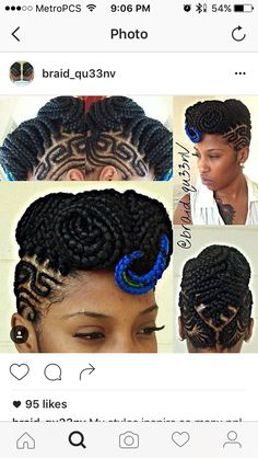 Cardi B Mohawk Natural Hair Style Braids Pinterest