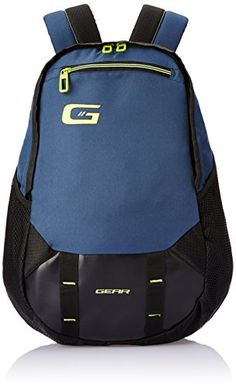 #2: Gear 23 ltr Navy Blue and Green Casual Backpack (BKPOTLNR60503)