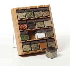 Lifetime Brands Kamenstein16 Cube Bamboo (3.415 RUB) ❤ liked on Polyvore featuring home, kitchen & dining, kitchen gadgets & tools, spice carousel, bamboo rack, herb rack, pizza rack and spice rack