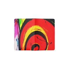 Red Swirl Abstract Art Pocket Moleskine Notebook