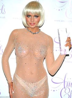 Britney did it better! Amy Childs wore a jewelled catsuit as she launched her hair vajazzle in London today