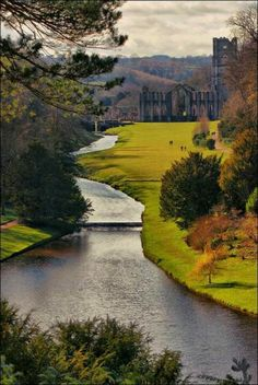"""Fountains Abbey: """"It would be wonderful to see it as it once stood, but there's a certain charm in willowy grasses, ivy growing out of the roof, and wild figs sunning themselves in the abbey courtyard."""" Slow Travel Yorkshire Dales; www.bradtguides.com"""